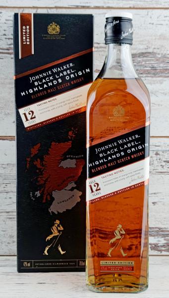 Johnnie Walker Black Label 12 Jahre Highlands Origin