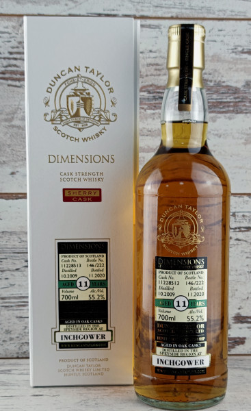 Inchgower (Sherry) 2009/2020 Dimensions